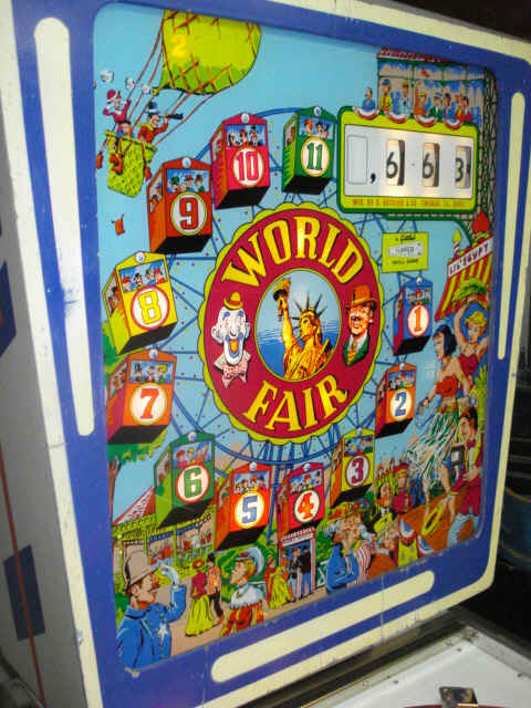 1964 Gottlieb World Fair Pinball Machine For Sale at R-Kade Games in Massachusetts