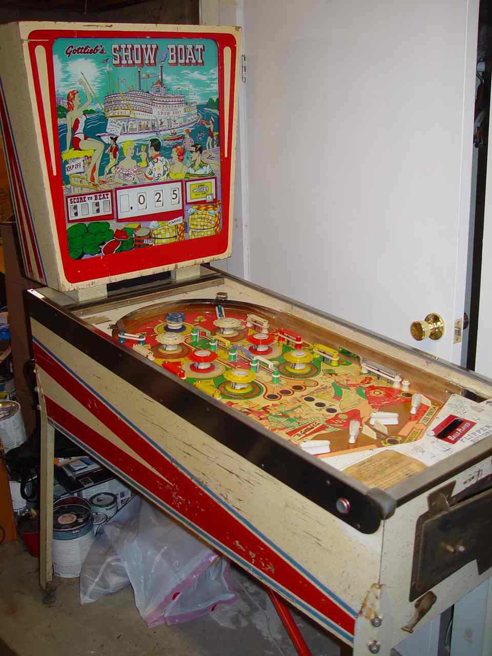 1961 Gottlieb Show Boat Pinball Machine For Sale at R-Kade Games in Massachusetts