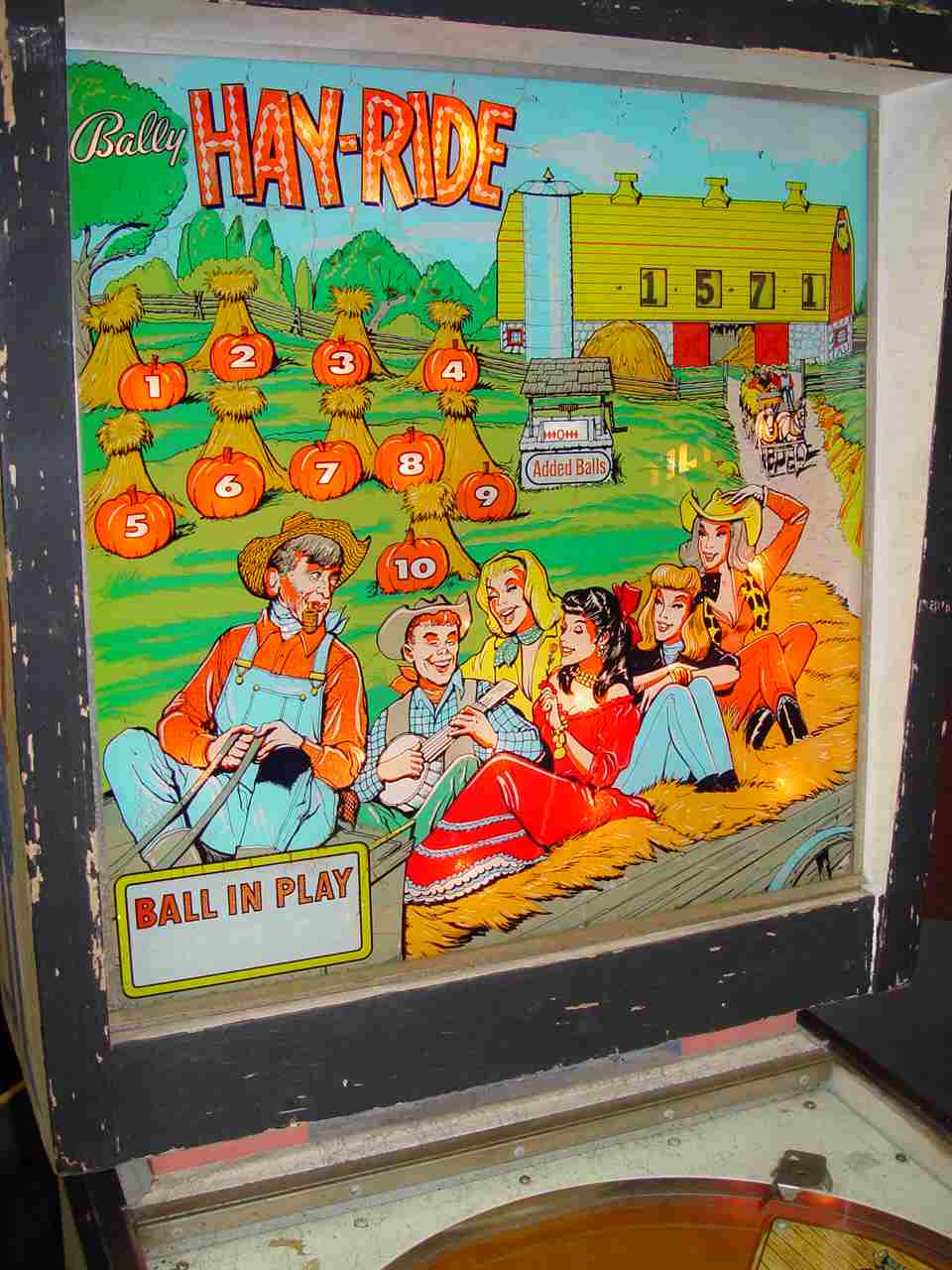 1964 Bally Hay-Ride Pinball Machine For Sale at R-Kade Games in Massachusetts