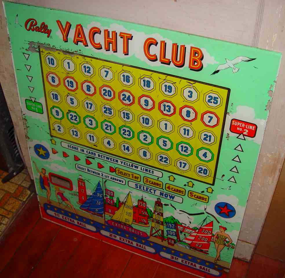 Bally Yacht Club Bingo Machine For Sale at R-Kade Games in Massachusetts